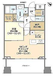 ル サンク大崎ウィズタワー 12階1LDKの間取り
