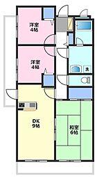 藤和シティコープ坂戸[3階]の間取り