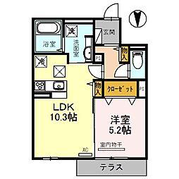 大阪府大阪市城東区今福西1丁目の賃貸アパートの間取り