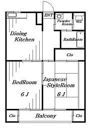 エステートピア稲毛台[2階]の間取り