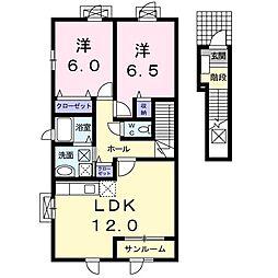 メゾン・ド・エスポワ−ル I[2階]の間取り