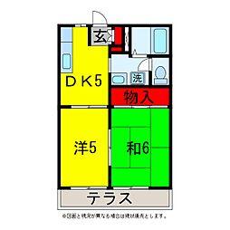 エクセル国分寺台A・B[1階]の間取り