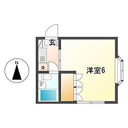 メゾンドポエット 11b[1階]の間取り