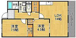 サンシャインミフネIII[3階]の間取り