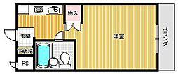 兵庫県西宮市甲子園口2丁目の賃貸マンションの間取り