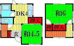 [一戸建] 埼玉県越谷市相模町1丁目 の賃貸【/】の間取り