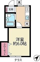 リステリアアサヒ[1階]の間取り
