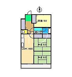 グリーンカーサヒロタ[7階]の間取り