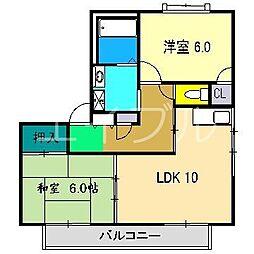 ファミール・ビレジ D棟[2階]の間取り