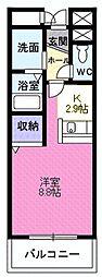 宮城県仙台市太白区富沢4丁目の賃貸マンションの間取り