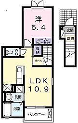 兵庫県神戸市垂水区大町1丁目の賃貸アパートの間取り