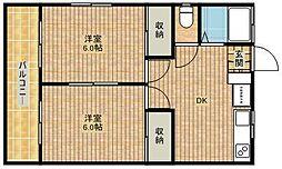 メゾン森辰アパート[2階]の間取り