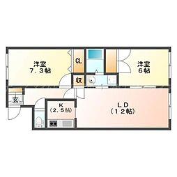 北海道札幌市東区北二十八条東7丁目の賃貸マンションの間取り