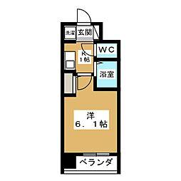 プレサンス京都四条烏丸[6階]の間取り