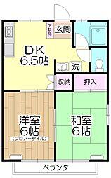 タカラシティ101[205号室]の間取り