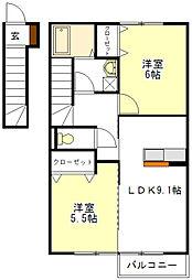 MARCHE 高茶屋[2階]の間取り