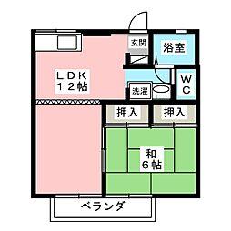 ファミール片野[2階]の間取り
