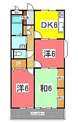 JR東海道・山陽本線 明石駅 バス10分 王塚台5丁目下車 徒歩3分の賃貸マンション 3階3DKの間取り