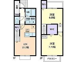 犬猫桜 B[2階]の間取り