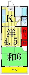 岡田マンション[305号室]の間取り