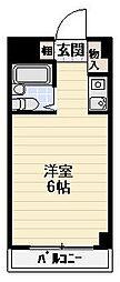 神奈川県川崎市川崎区小田5丁目の賃貸マンションの間取り