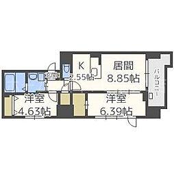 MODENA FINEST[6階]の間取り