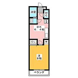 ライフ第7マンション豊田町[2階]の間取り