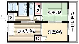 愛知県名古屋市名東区八前3丁目の賃貸マンションの間取り