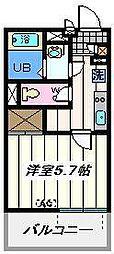 東京都足立区西伊興3丁目の賃貸マンションの間取り