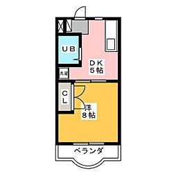 グランドゥールⅡ[2階]の間取り