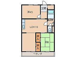 森商マンション[3階]の間取り
