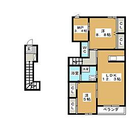 セーフティーパレス[2階]の間取り