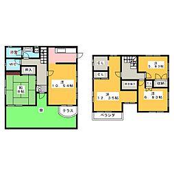 [一戸建] 岐阜県各務原市那加前野町3丁目 の賃貸【/】の間取り