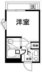 ピュアハウス松ヶ丘壱番館[2階]の間取り