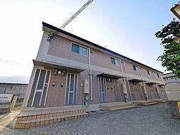 奈良県生駒市中菜畑2丁目の賃貸アパートの外観