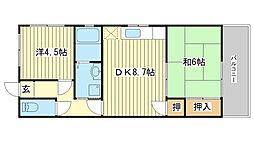 メゾン前田[402号室]の間取り
