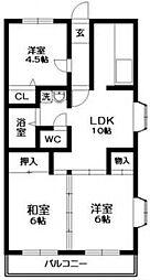 ベルビュー松戸 so[3階]の間取り