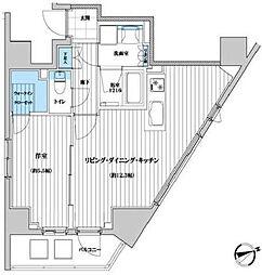 セルアージュ横濱桜木町ヴァルール[11階]の間取り