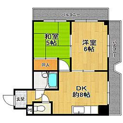 シティハイツ姫島[3階]の間取り