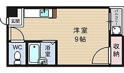 レジデンスユニ[4階]の間取り
