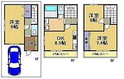 [一戸建] 大阪府大阪市此花区伝法3丁目 の賃貸【/】の間取り