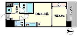 M:COURT江坂[4階]の間取り