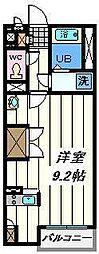 埼玉県草加市両新田東町の賃貸アパートの間取り