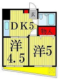 エレガンス綾瀬5[216号室]の間取り