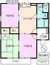 ロイヤルパーク篠ノ井[1階]の間取り