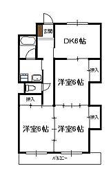 第11シャトーモリオカ(3DK)[304号号室]の間取り