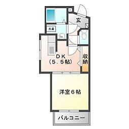 三重県鈴鹿市末広北2の賃貸マンションの間取り