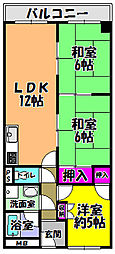 セレーナ喜志三番館1[4階]の間取り