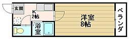 三枝ビル[201号室]の間取り