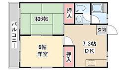ハイム上本郷[2階]の間取り